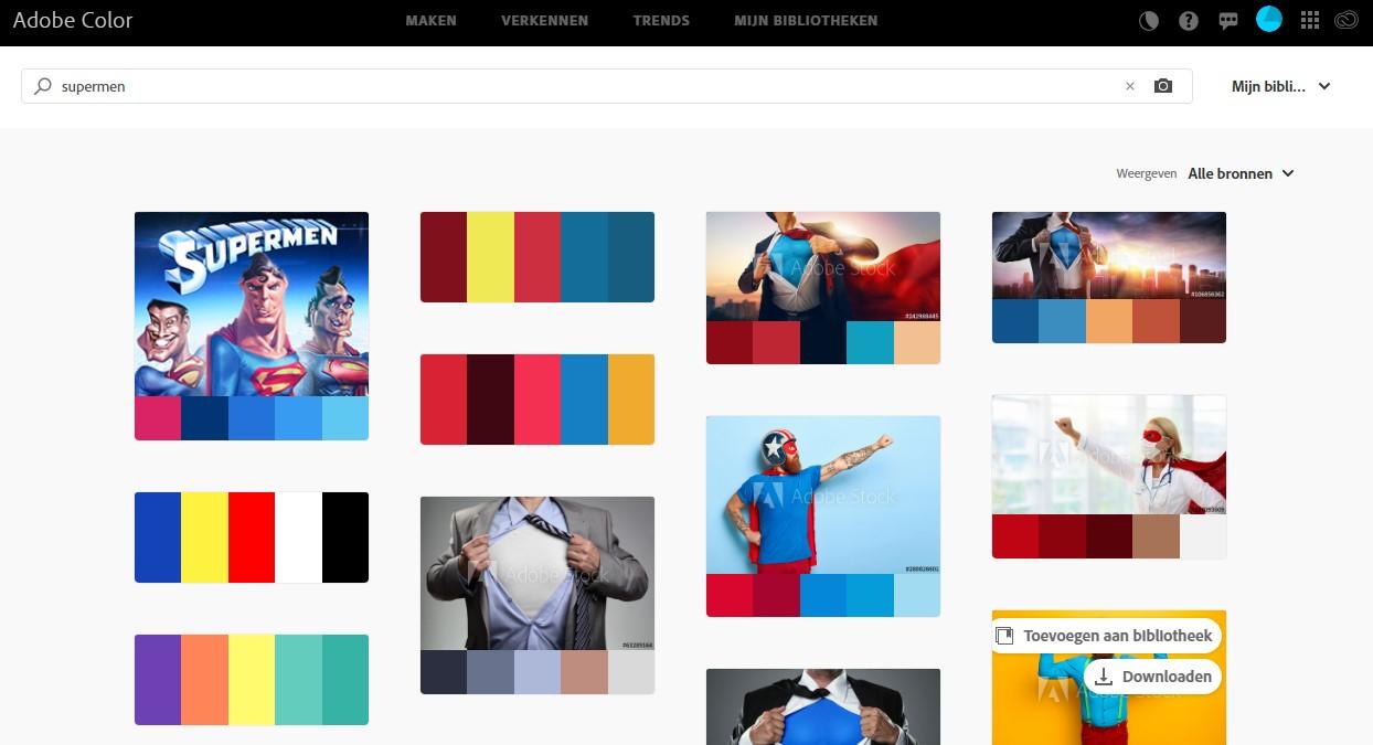 Adobe Color zoeken