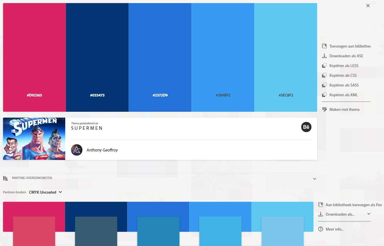 Adobe Color kleurenthema