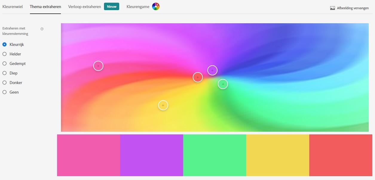 Adobe Color extraheren