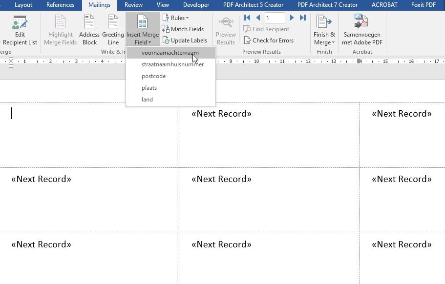 Microsoft Office: Adressen mail mergen