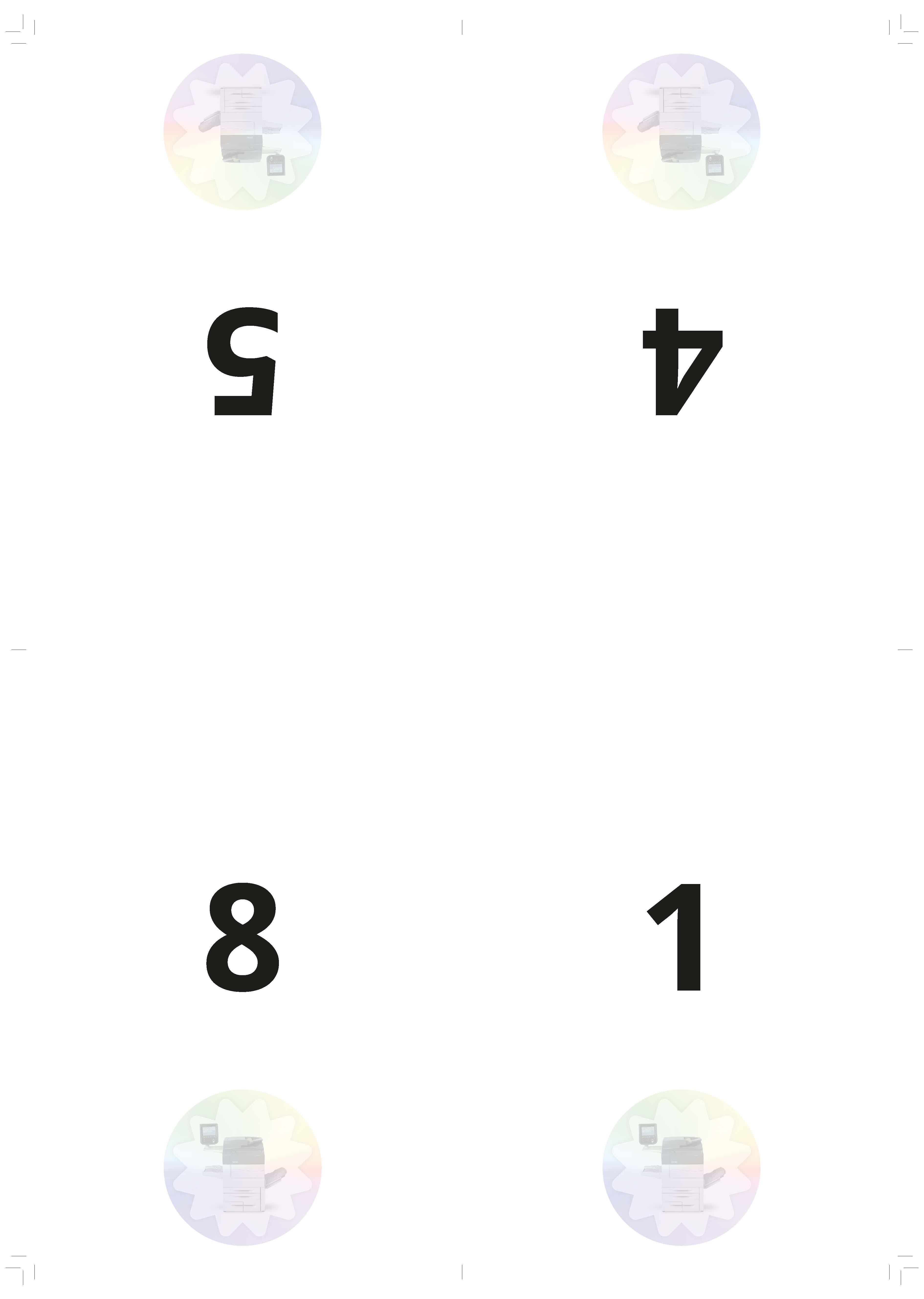 Inslagschema: kruisvouw