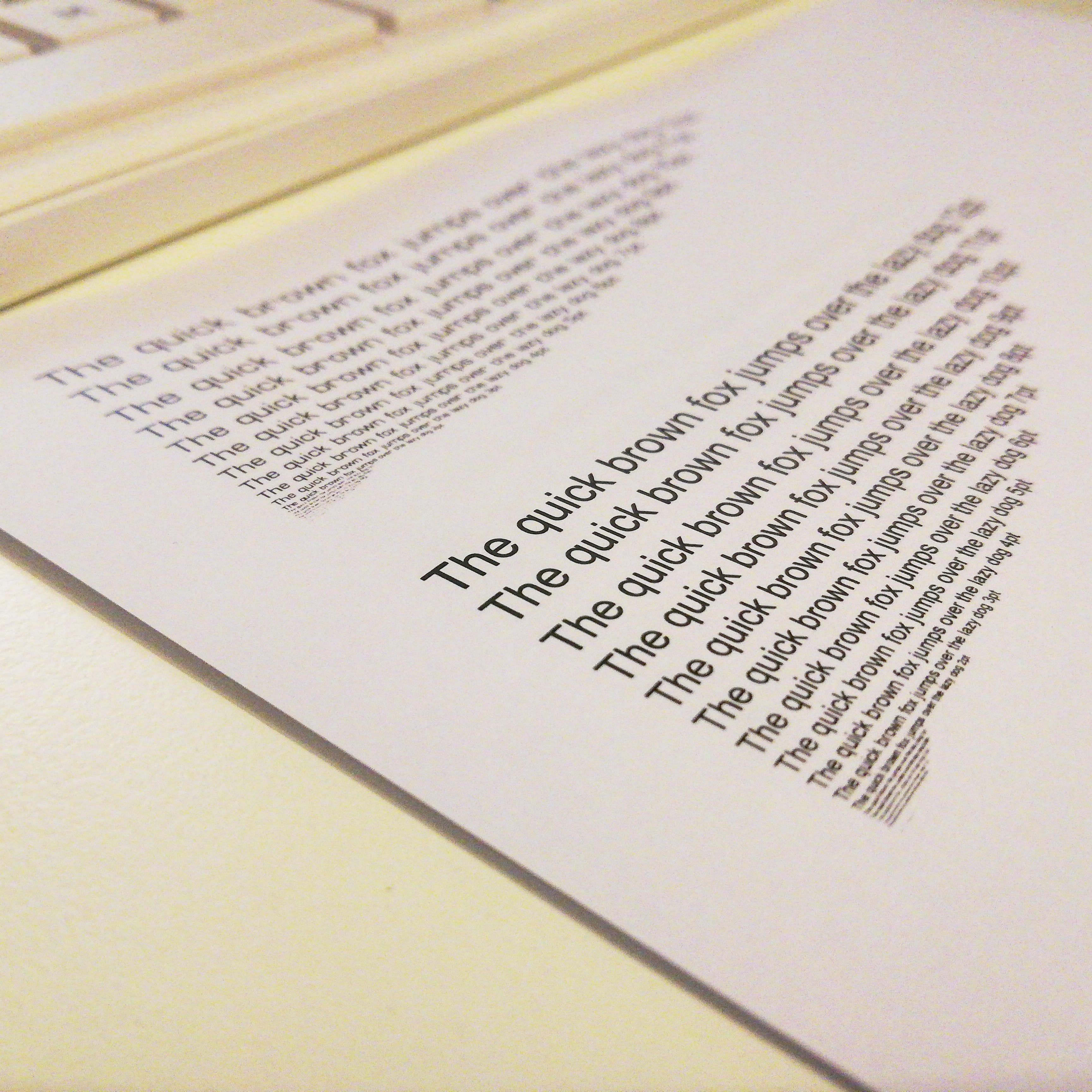 Printen: Lettertype grootte & lijn dikte