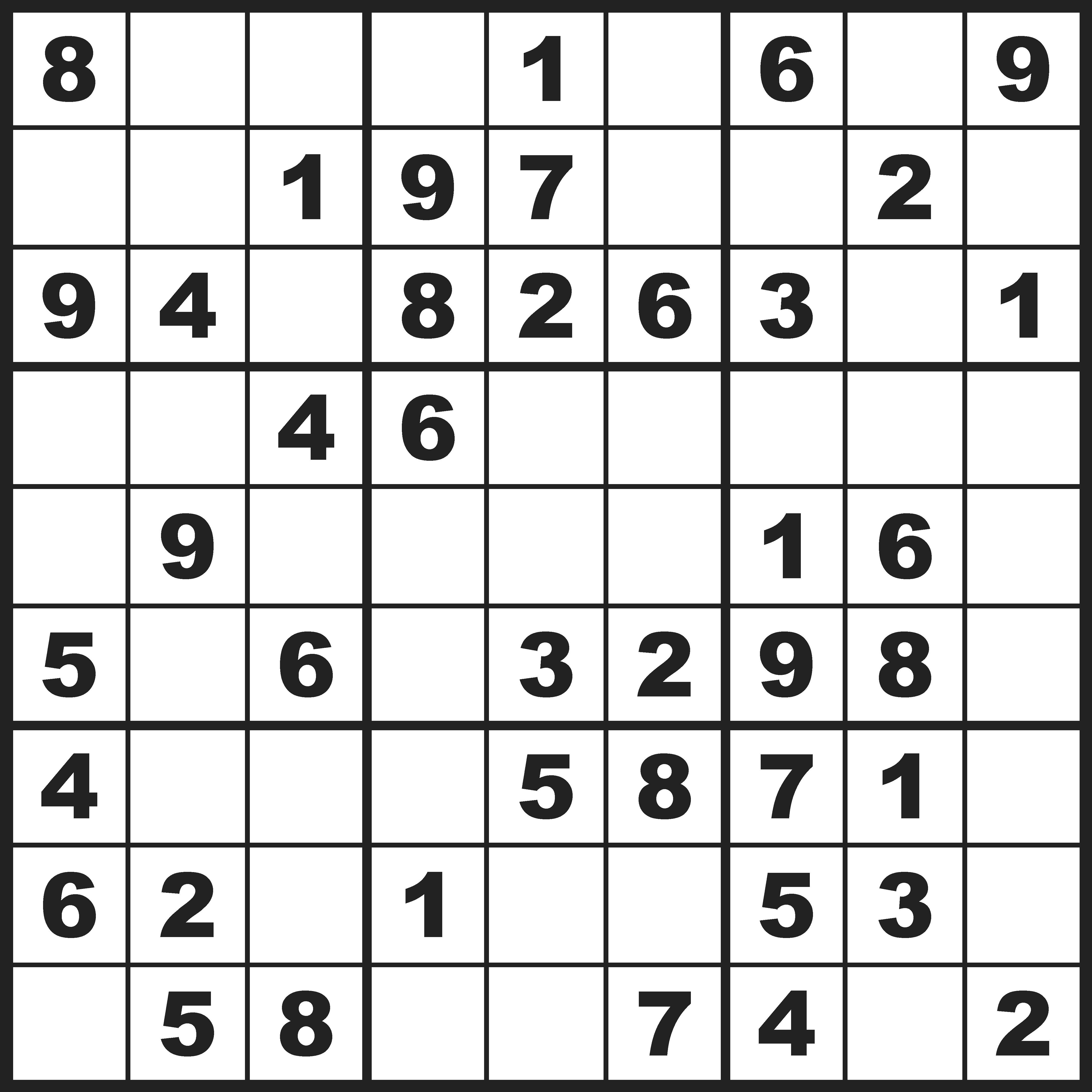 Sudoku gemiddeld