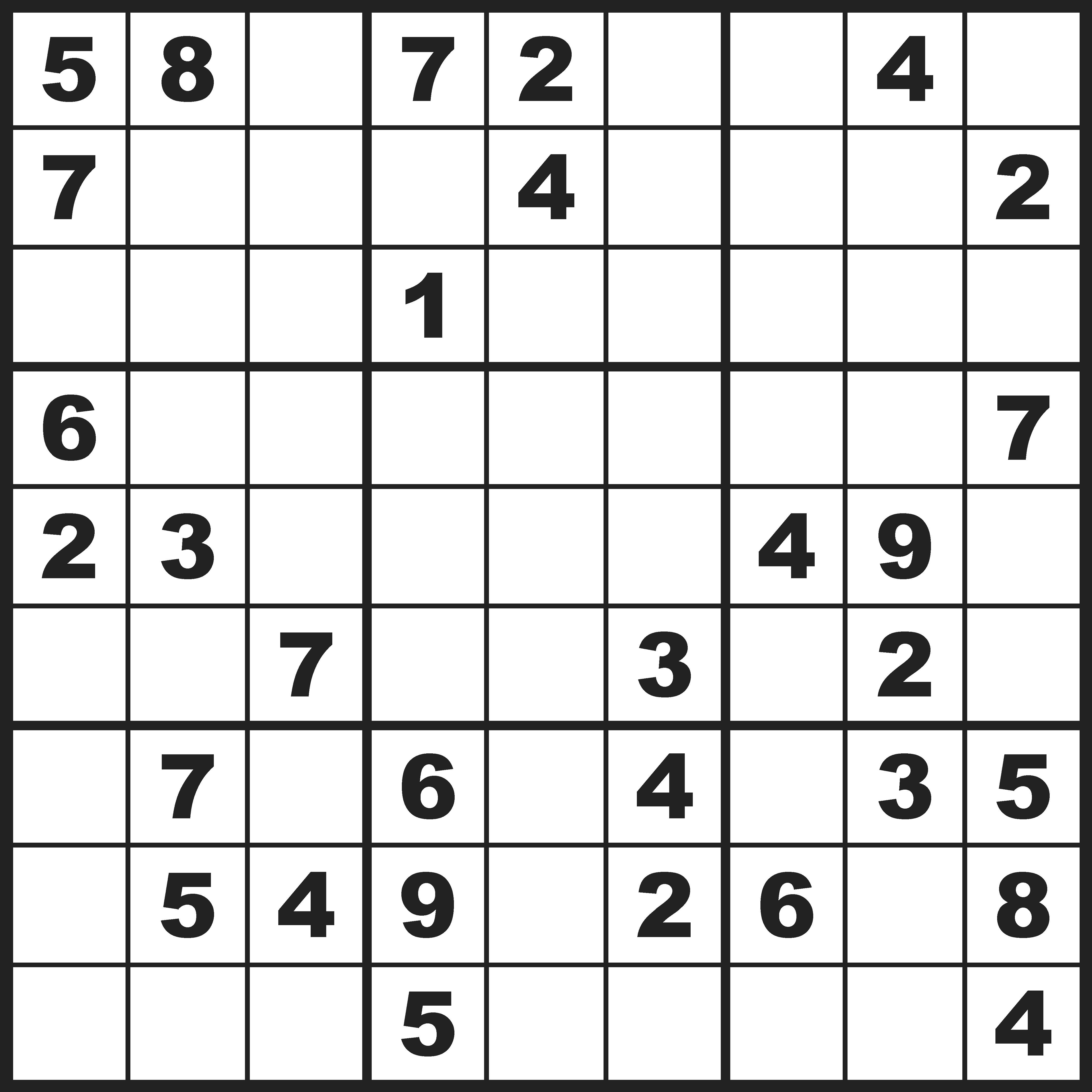 Sudoku moeilijk