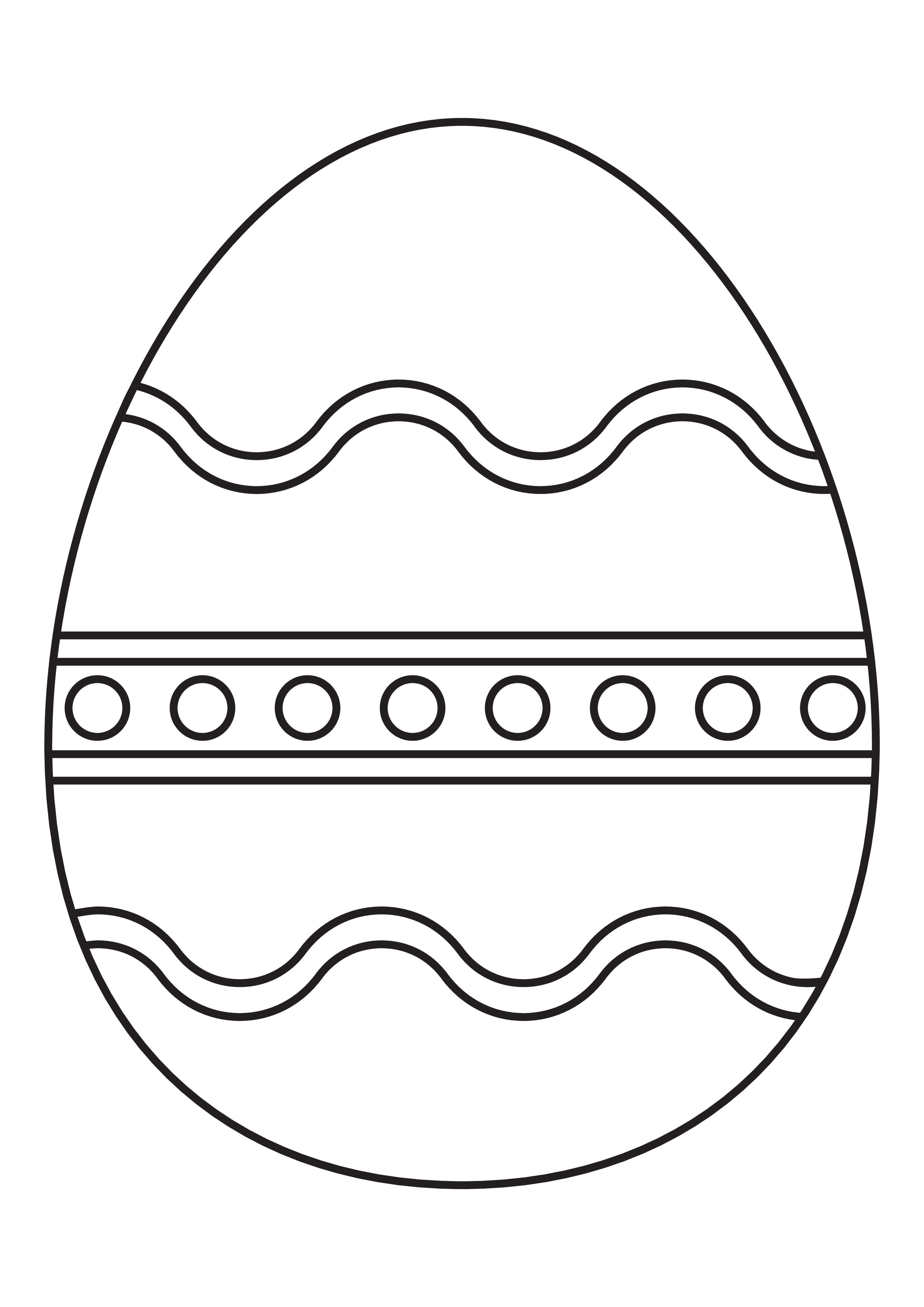 Kleurplaten: 5 Inkleurbare paas eieren