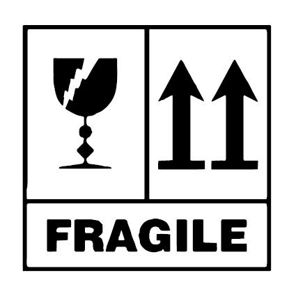 Fragile verzend icoon