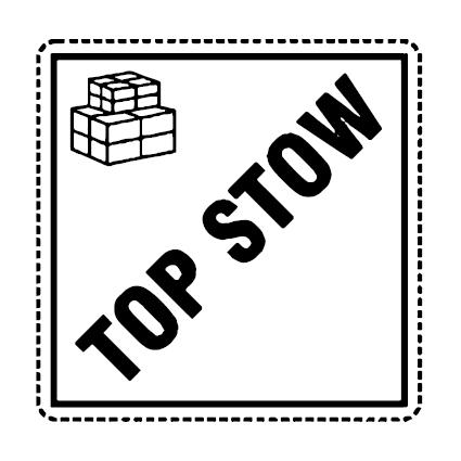 Top Stow verzend icoon