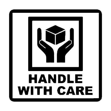 Handle With Care verzend icoon