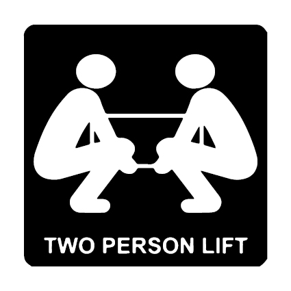 Two Person Lift verzend icoon