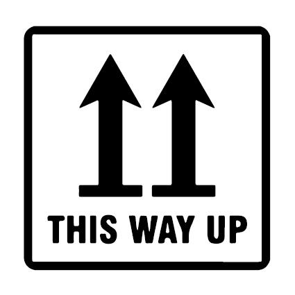 This Way Up verzend icoon