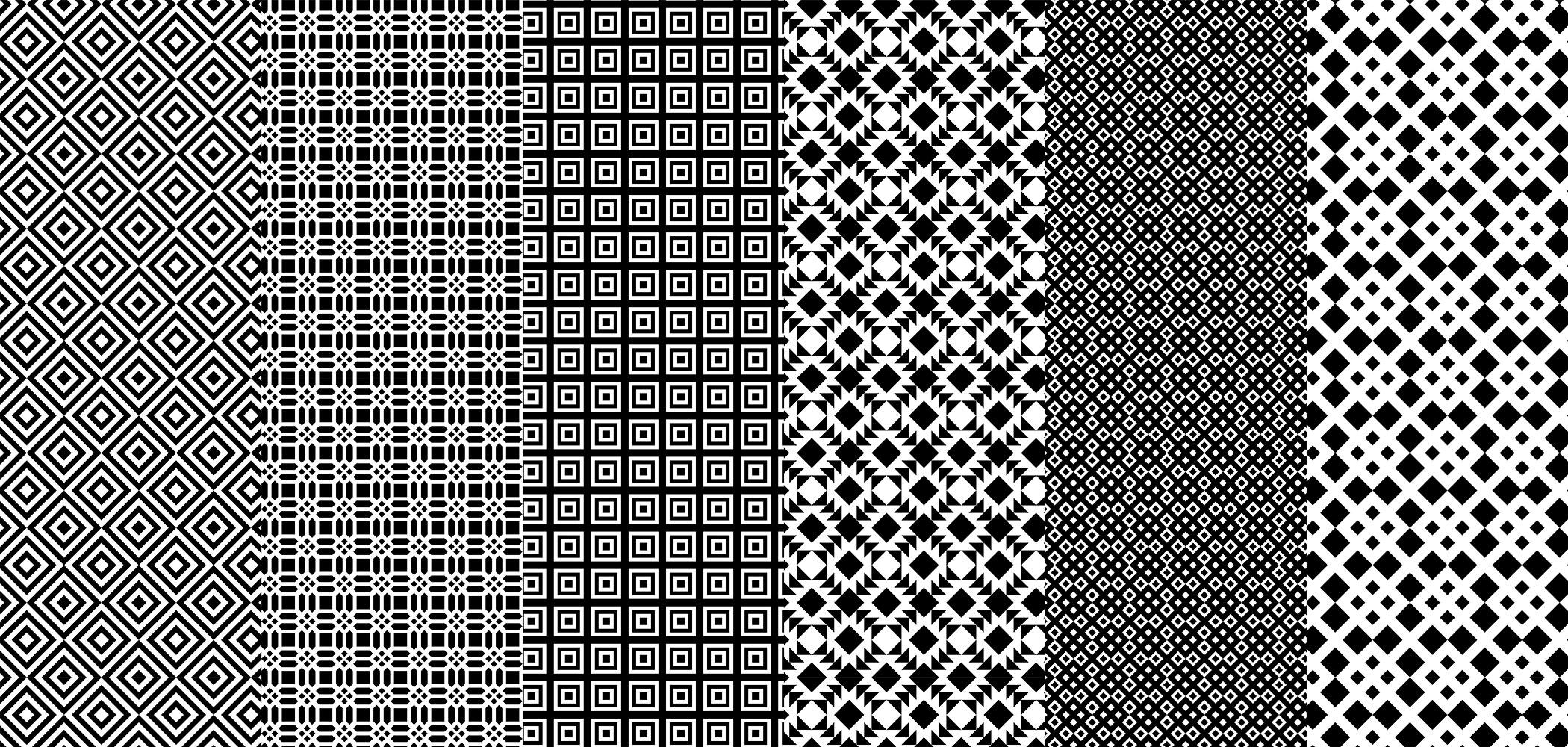 Freebie: Monochrome geometrische patronen