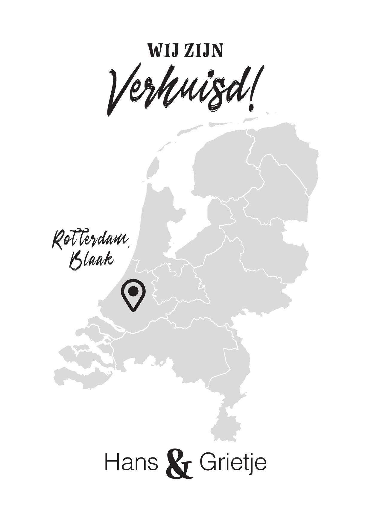 Wij zijn verhuisd met Nederlandse plattegrond
